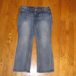 MAURICES STRAIGHT BOOT CUT JEANS PLUS SIZE 18 R